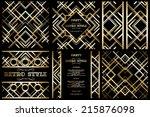 vector retro pattern for... | Shutterstock .eps vector #215876098