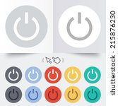 power sign icon. switch on... | Shutterstock . vector #215876230