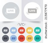 live sign icon. on air stream... | Shutterstock . vector #215877970