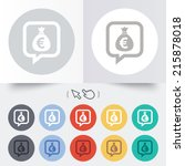 money bag sign icon. euro eur... | Shutterstock . vector #215878018