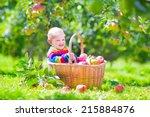 cute funny little baby boy... | Shutterstock . vector #215884876