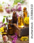 essential oils and medical... | Shutterstock . vector #215886310