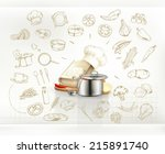 cooking infographics  vector | Shutterstock .eps vector #215891740