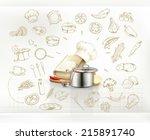 cooking infographics  vector | Shutterstock .eps vector #215891740