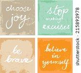4 hand written inspirational... | Shutterstock .eps vector #215893978