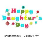 illustration on happy daughter... | Shutterstock .eps vector #215894794