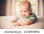 beautiful smiling cute baby | Shutterstock . vector #215894896