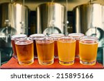 Beer Flight Of Eight Glasses O...