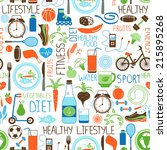 sport  diet and fitness vector... | Shutterstock .eps vector #215895268