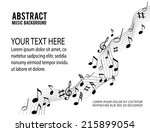 music notes on a solide white... | Shutterstock .eps vector #215899054