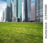 the lawn in the city of shanghai | Shutterstock . vector #215900080