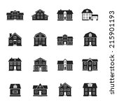 houses and buildings flat... | Shutterstock .eps vector #215901193