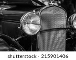 Headlight And Grill Of Vintage...