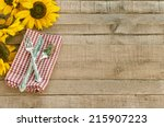 picnic table setting with... | Shutterstock . vector #215907223