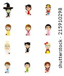 a set of different costumes for ... | Shutterstock .eps vector #215910298