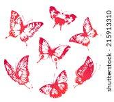 butterflies design | Shutterstock .eps vector #215913310