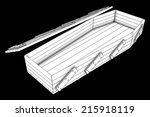 coffin. isolated on black... | Shutterstock . vector #215918119