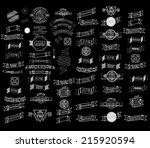 mega set of thin line retro... | Shutterstock .eps vector #215920594