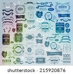 mega set of ornate frames and... | Shutterstock .eps vector #215920876