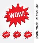 vector attention grabber set... | Shutterstock .eps vector #215921230