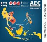 aec asean economic community...   Shutterstock .eps vector #215923990