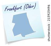 map of frankfurt oder as sticky ...   Shutterstock .eps vector #215925496