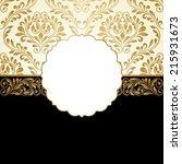 vintage greeting card. raster... | Shutterstock . vector #215931673