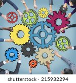 group of multiethnic business... | Shutterstock . vector #215932294