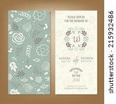 wedding invitation or...   Shutterstock .eps vector #215932486