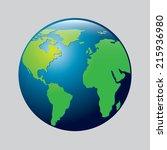 eco design over gray background ... | Shutterstock .eps vector #215936980