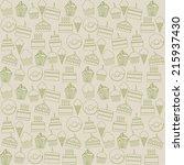 bakery design over gray... | Shutterstock .eps vector #215937430
