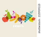fruits icon. color food sign.... | Shutterstock . vector #215939113