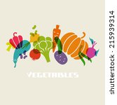 vegetables icon. color food... | Shutterstock . vector #215939314