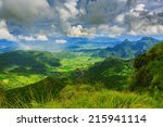 view of phu chi fa mountain at... | Shutterstock . vector #215941114