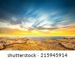 panoramic dramatic sunset sky... | Shutterstock . vector #215945914