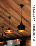 Black Pendant Lamp On Ceiling...