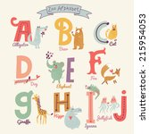 cute zoo alphabet in vector. a  ... | Shutterstock .eps vector #215954053