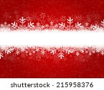 christmas snow background | Shutterstock . vector #215958376