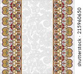 ornamental background with... | Shutterstock . vector #215960650