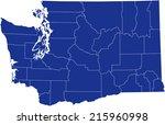 washington  map | Shutterstock .eps vector #215960998