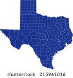 texas  map | Shutterstock .eps vector #215961016