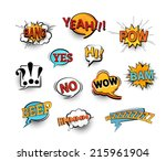 set of bright cool and dynamic... | Shutterstock .eps vector #215961904
