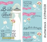 bridal shower invitation set... | Shutterstock .eps vector #215964328