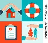 vector insurance concepts in...   Shutterstock .eps vector #215964436