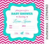 baby shower invitation. white ... | Shutterstock .eps vector #215964463