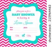 baby shower invitation. white ... | Shutterstock .eps vector #215964463