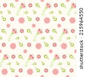 seamless with flowers. vector... | Shutterstock .eps vector #215964550