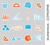 mathematics stickers set eps10 | Shutterstock .eps vector #215965948