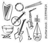 musical instruments | Shutterstock .eps vector #215994814