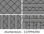 set of seamless striped... | Shutterstock .eps vector #215996350
